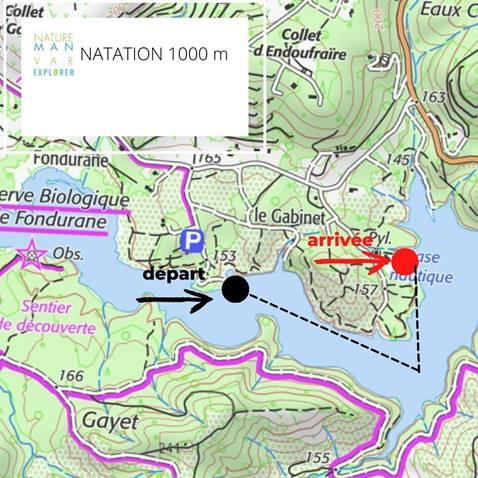 Etape 9 : Natation lac de Saint-Cassien